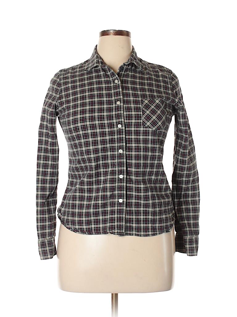 Denim & Supply Ralph Lauren Women Long Sleeve Button-Down Shirt Size L