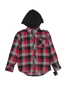Tony Hawk Long Sleeve Button-Down Shirt Size 8