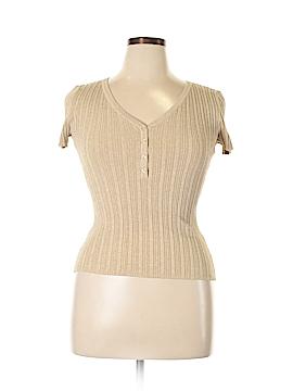 INC International Concepts Short Sleeve Silk Top Size L