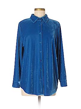 Soft Surroundings Long Sleeve Button-Down Shirt Size M (Petite)