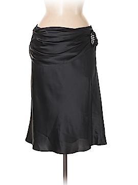 White House Black Market Silk Skirt Size 6