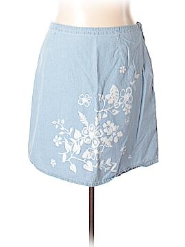 Cj Banks Denim Skirt Size 2X (Plus)