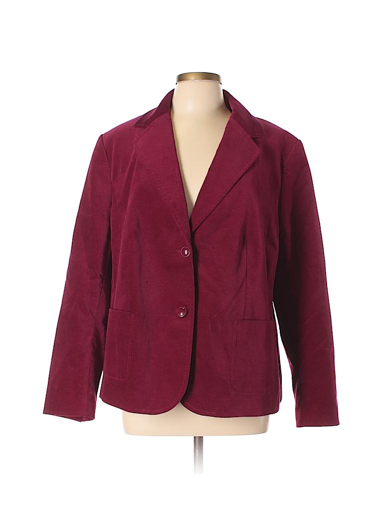 Talbots Solid Burgundy Blazer Size 10 - 93% off  d07931244