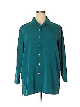 Travelsmith 3/4 Sleeve Blouse Size 1X (Plus)