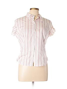 Xhilaration Short Sleeve Button-Down Shirt Size L