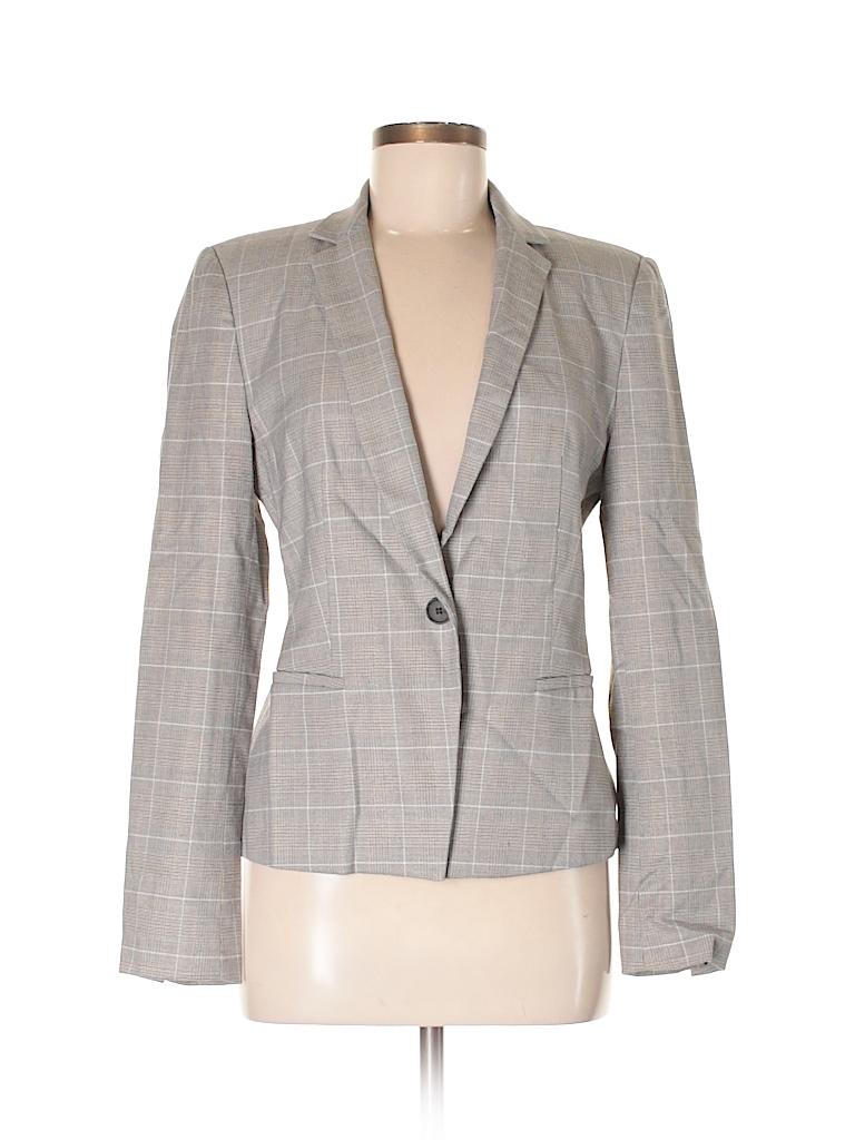 Blazer Zara Gray Thredup Off Size Solid Basic 70 M THqwUg