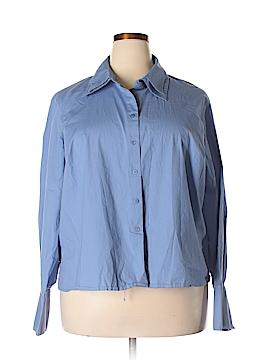 Rafaella Long Sleeve Button-Down Shirt Size 20 (Plus)