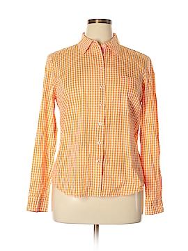 Peck & Peck Long Sleeve Button-Down Shirt Size L