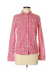 Delia Women Long Sleeve Button-Down Shirt Size S