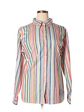 Silhoutte Long Sleeve Button-Down Shirt Size 2X (Plus)