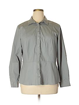 Jessica London Long Sleeve Button-Down Shirt Size 16