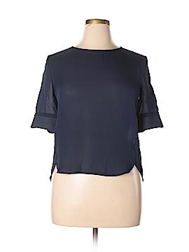 Emporio Armani Short Sleeve Silk Top Size 46 (IT)