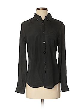 Joe Fresh Long Sleeve Silk Top Size S