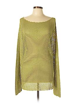 Due Per Due Long Sleeve Silk Top Size 2X (Plus)