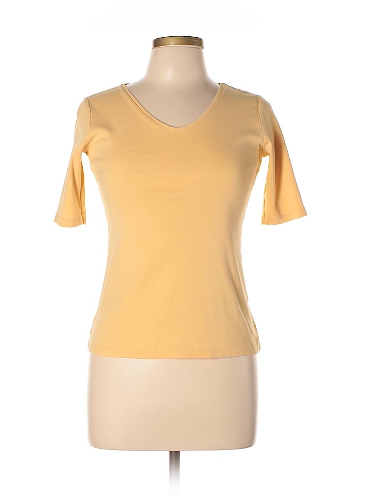 617c8855c0e J.jill 100% Pima Cotton Solid Dark Yellow Short Sleeve T-Shirt Size ...