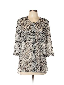 Gerard Darel 3/4 Sleeve Silk Top Size 12 (44)