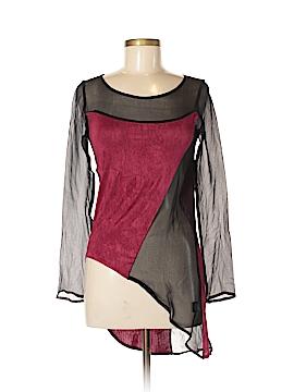 Stella & Jamie Long Sleeve Silk Top Size S