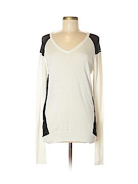 Blanc Noir Silk Pullover Sweater Size M