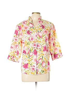 BonWorth 3/4 Sleeve Button-Down Shirt Size M (Petite)