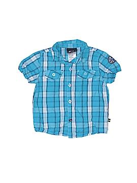 Boys Rock Short Sleeve Button-Down Shirt Size 24 mo