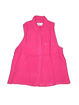 Abercrombie Sleeveless Button-Down Shirt Size L (Kids)