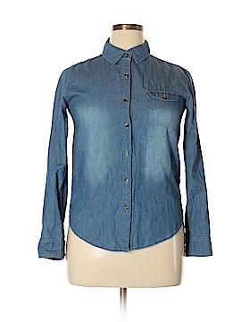 Sans Souci Long Sleeve Button-Down Shirt Size L