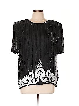 Stenay Short Sleeve Silk Top Size L