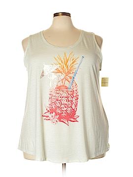 Lucky Brand Sleeveless T-Shirt Size 3X (Plus)