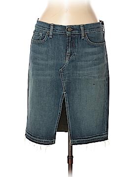 7 For All Mankind Denim Skirt 32 Waist
