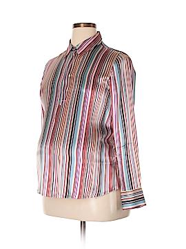 Liz Lange Maternity for Target Long Sleeve Silk Top Size M (Maternity)