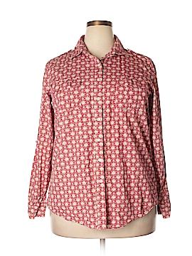 Lands' End Long Sleeve Button-Down Shirt Size 1X (Plus)