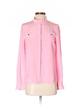 Diane von Furstenberg Long Sleeve Silk Top Size 5