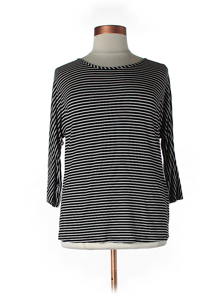 ELOQUII Women 3/4 Sleeve T-Shirt Size 14-16