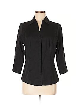 Rider 3/4 Sleeve Button-Down Shirt Size M