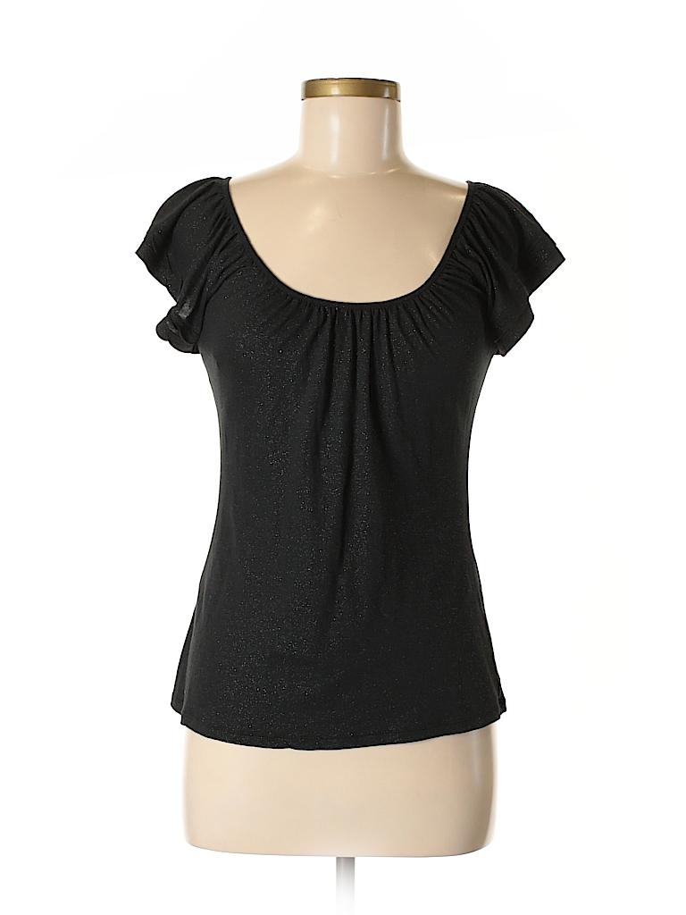 bb9aa7aaf27141 Express Solid Black Short Sleeve Top Size S - 95% off | thredUP