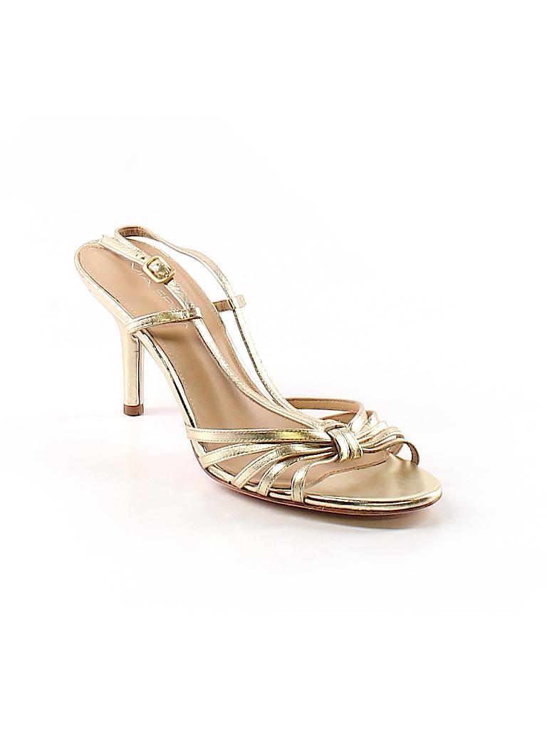 Via Spiga Solid Gold Heels Size 8 - 91