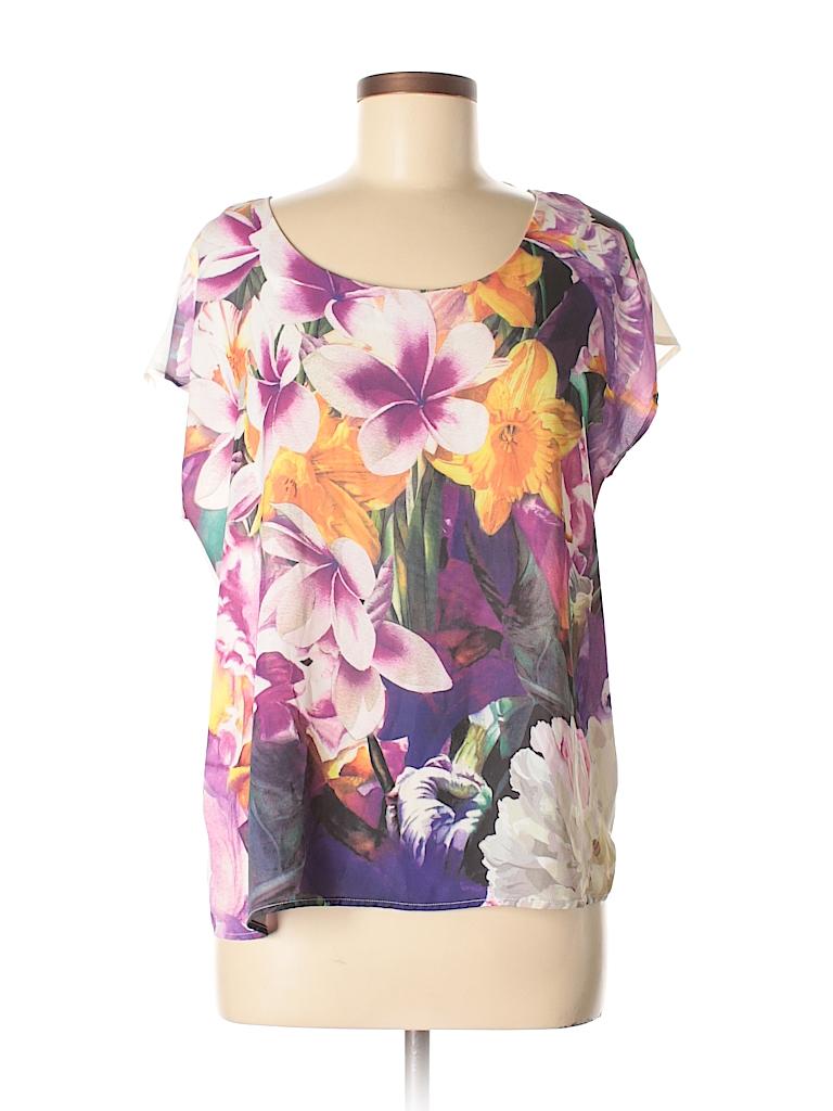 Pleione Women Short Sleeve Blouse Size S
