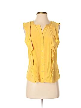 Etcetera Short Sleeve Silk Top Size 4