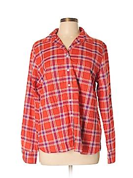 Lands' End Canvas Long Sleeve Button-Down Shirt Size L