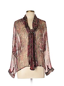 Isabel Lu Long Sleeve Silk Top Size L