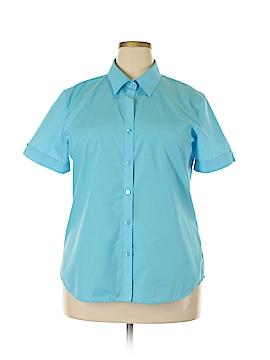Foxcroft Short Sleeve Button-Down Shirt Size 18 (Plus)