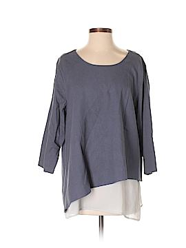Soft Surroundings 3/4 Sleeve Blouse Size L (Petite)
