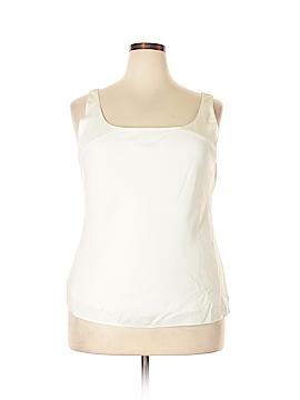 Lafayette 148 New York Sleeveless Silk Top Size 18 (Plus)
