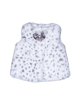 Little Me Faux Fur Vest Size 12 mo