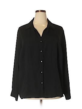 Sag Harbor Long Sleeve Blouse Size 24W (Plus)
