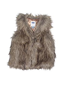 Old Navy Faux Fur Vest Size 3T