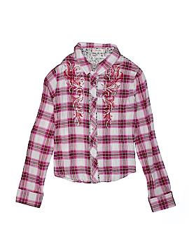 Miss Me Long Sleeve Button-Down Shirt Size L (Kids)