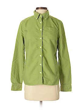 Lands' End Canvas Long Sleeve Button-Down Shirt Size S