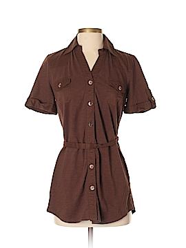 Coldwater Creek Short Sleeve Button-Down Shirt Size XS