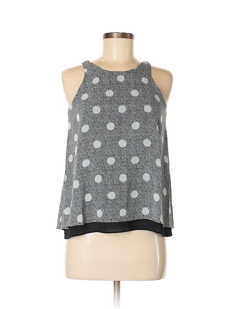 07556233489913 Banana Republic Factory Store 100% Polyester Polka Dots Black ...